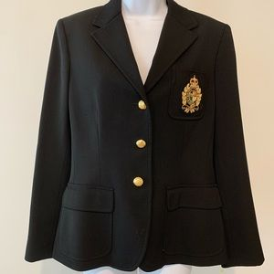 Ralph Lauren Women's Blazer With Crest